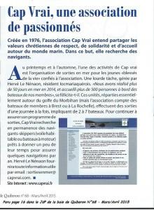 Article-Baie de Quiberon-Mars2015